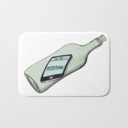 1 New Message (In a Bottle) Bath Mat