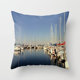 Paynesville Harbour Throw Pillow