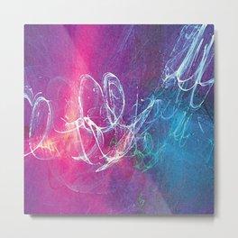 Colorful Sketchy Squiggle Metal Print