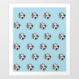 Dalmatian Pattern - Blue Art Print