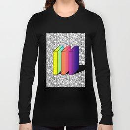 Memphis Style shaded Long Sleeve T-shirt