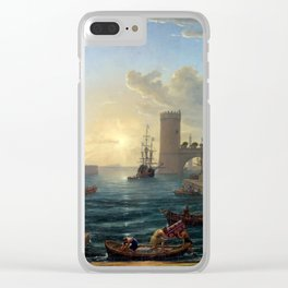 Claude Lorrain Seaport with the Embarkation of the Queen of Sheba Clear iPhone Case