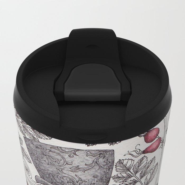 Winter Garden Metal Travel Mug