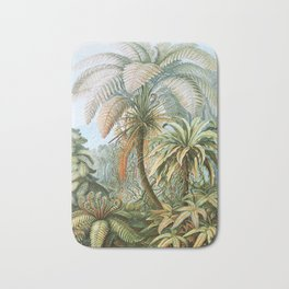 Vintage Fern and Palm Tree Art - Haeckel, 1904 Bath Mat