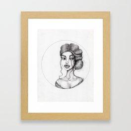 JennyMannoArt Graphite Drawing/Nora Framed Art Print