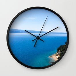 Out to Sea | Open Water Mediterranean Coast Expanse Art Print Tapestry Wall Clock