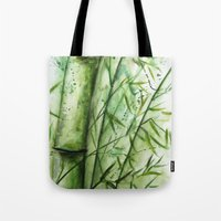 bamboo Tote Bags featuring Bamboo by rchaem