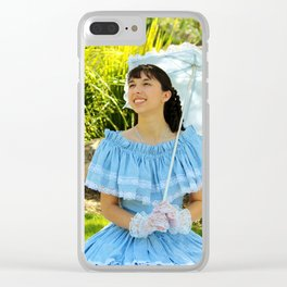 Southern Belle Portrait Clear iPhone Case