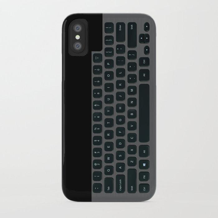Brushed Metal Keyboard iPhone Case