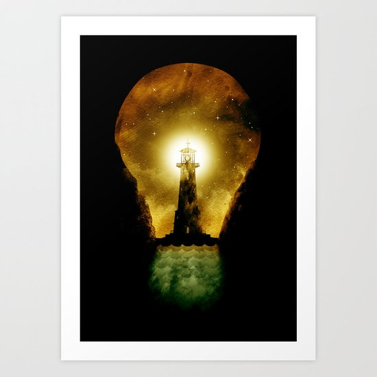 reach for the light Art Print