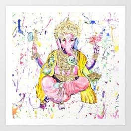 The Elephant God Ganesh, Ganesha Art Print