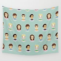 1d Wall Tapestries featuring 1d doodle boys by vulpae