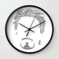 tony stark Wall Clocks featuring Tony Stark by  Steve Wade ( Swade)