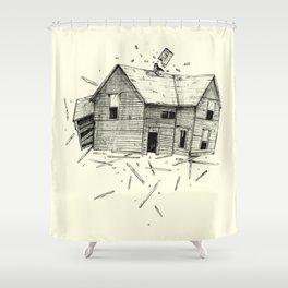 home blown Shower Curtain