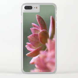 Faded Blush Clear iPhone Case
