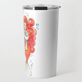 Goldfish Mermaid Travel Mug