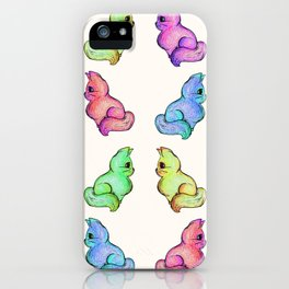 The Various Hues of Grapefruit Cat iPhone Case