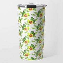 watercolor avocado and leaves pattern Travel Mug