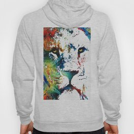 Colorful Lion Art By Sharon Cummings Hoody