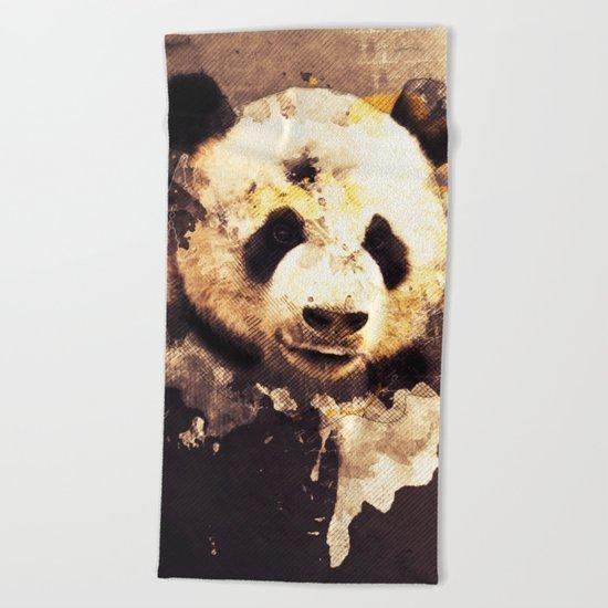 Panda Painting, Panda Mixed Media, Panda Bear, Panda Animal, Pandas Art, Panda Print, Best Panda Beach Towel