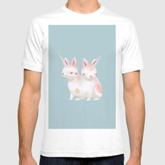 Two Heads Bunny Mens Fitted Tee MEDIUM White