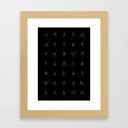 White Middle Fingers Framed Art Print