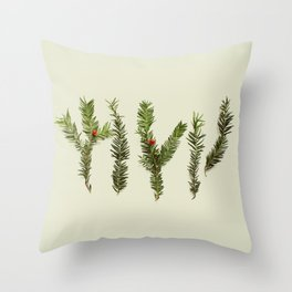 COMPOSIZIONE FOGLIE III Throw Pillow