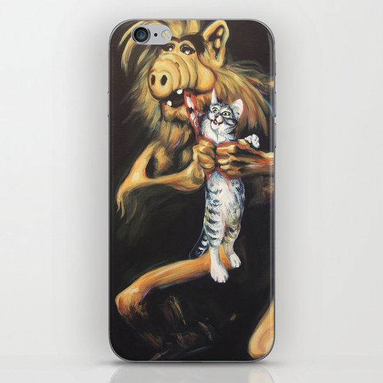 Alf Devouring His Cat iPhone & iPod Skin