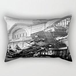 The Gare Montparnasse Train Accident  - France Rectangular Pillow