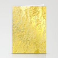 gold foil Stationery Cards featuring Gold Foil by Sweet Karalina