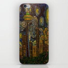 Dedication to Van Gogh: Seattle Starry Night iPhone Skin