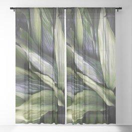 Green Jungle Sheer Curtain