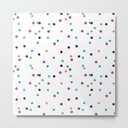 Party Confetti Pattern Metal Print