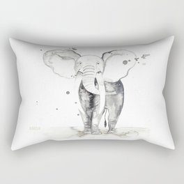 aquarela Elefante Rectangular Pillow