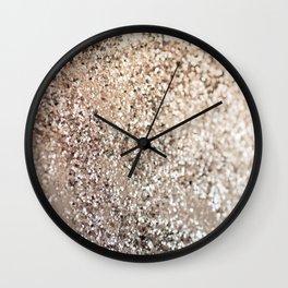 Sparkling GOLD Lady Glitter #1 #decor #art #society6 Wall Clock