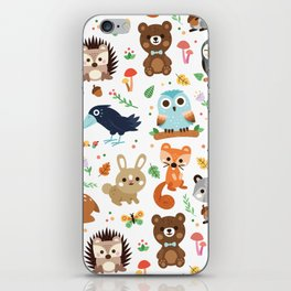 Woodland Animal iPhone Skin