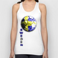 sweden Tank Tops featuring Old football (Sweden) by seb mcnulty