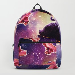 Warrior Space Cat On Turtle Unicorn - Bacon Backpack