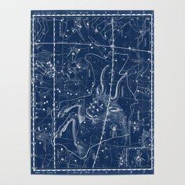 Taurus sky star map Poster
