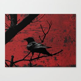 Crow Rust Industrial Red A673 Canvas Print