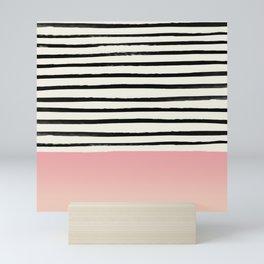 Blush x Stripes Mini Art Print