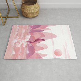 Fly Dolphin In The Sky Rug