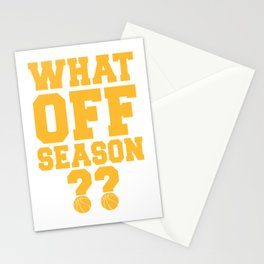 What Off Season Basketball Player Stationery Cards