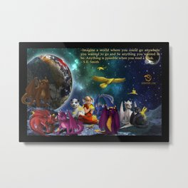 Dragonlings of Valdier: Space Metal Print