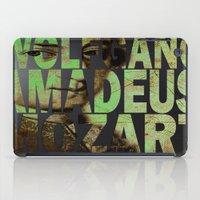 mozart iPad Cases featuring Wolfgang Amadeus Mozart by Ganech joe