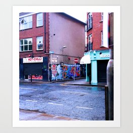 Fresh Urban Rain Art Print