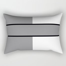 Team Color 6....gray.white Rectangular Pillow