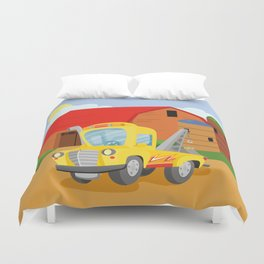TOW TRUCK (GROUND VEHICLES) Duvet Cover