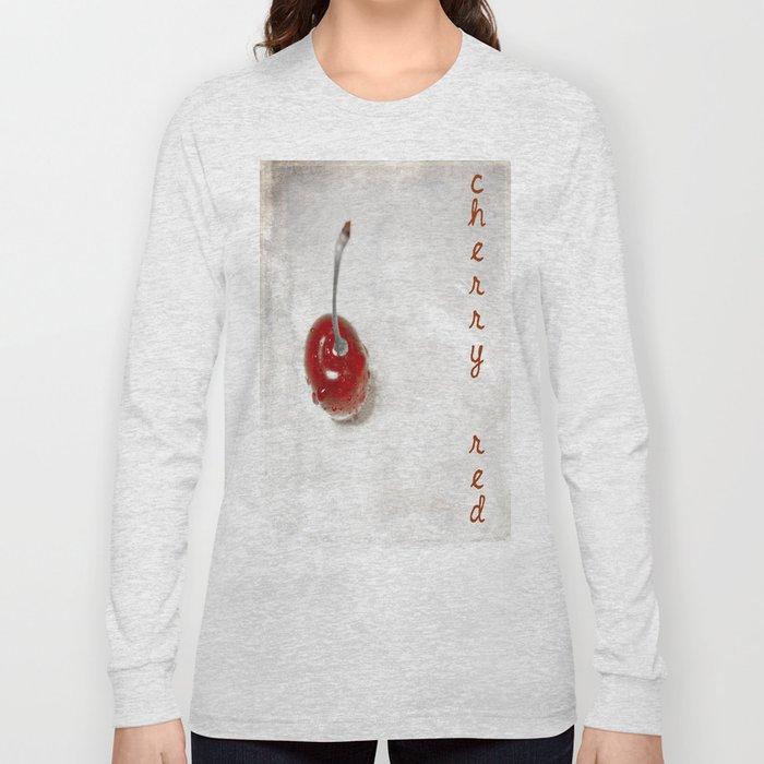 Cherry Red Long Sleeve T-shirt