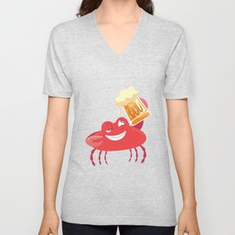 Crab Beer Crab Party Unisex V-Neck